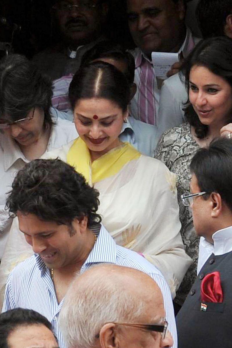 Sachin Tendulkar and Rekha