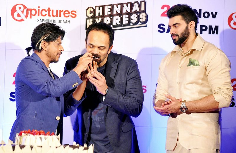Shah Rukh Khan, Rohit Shetty, Nikitin Dheer