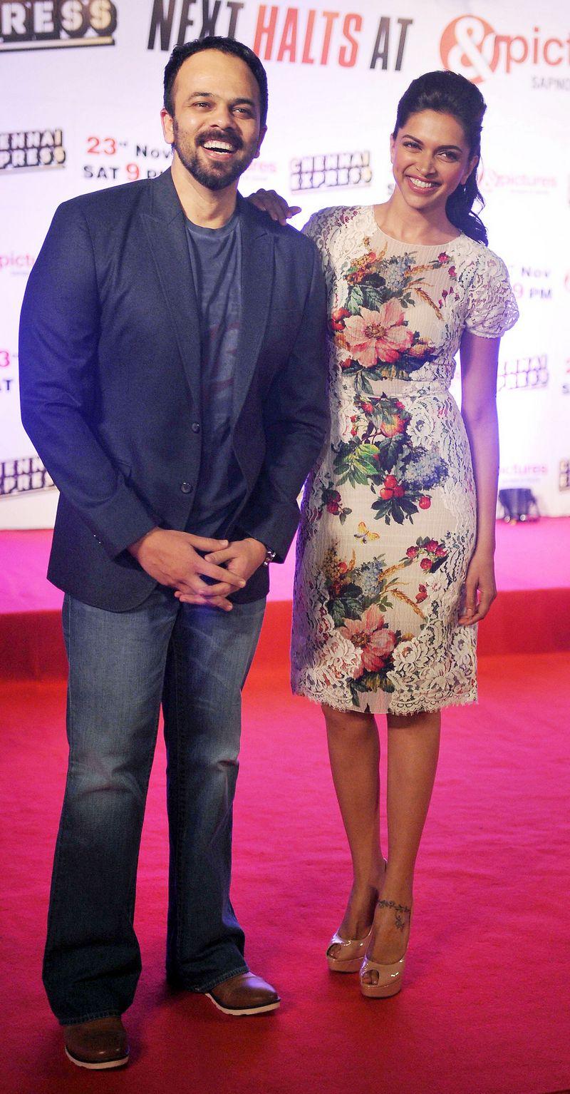 Deepika Padukone and Rohit Shetty