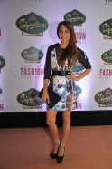 Anusha Dandekar in Falguni and Shane Peacock at Signature International Fashion Weekend