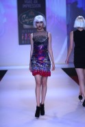 Opulence was the buzz word for the collection as flamboyant feathers, shimmering sequins, metallic strips and mind boggling prints created the Peacock magic on the ramp as the audience was taken on a fashionable Space Odyssey featuring some of the most go
