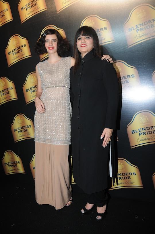 Kalki and Neeta Lulla on the red carpet.