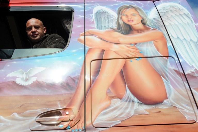 Truck driver Cedric Rosine