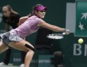 Na of China hits a return to Williams of the U.S. during their WTA tennis championships final match