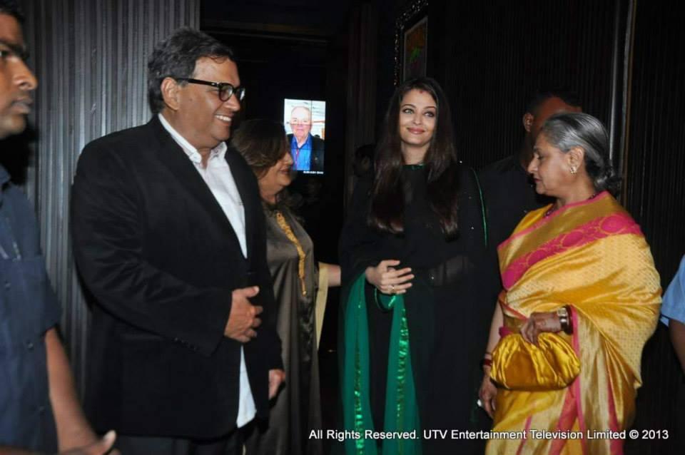 Subhash Ghai with Jaya Bachchan and Ash