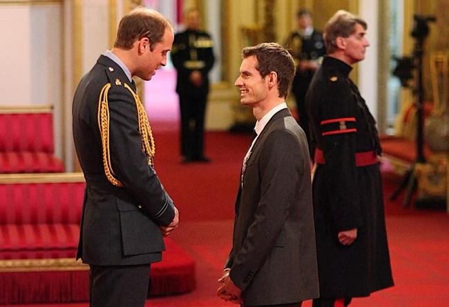 Andy Murray at Buckingham Palace