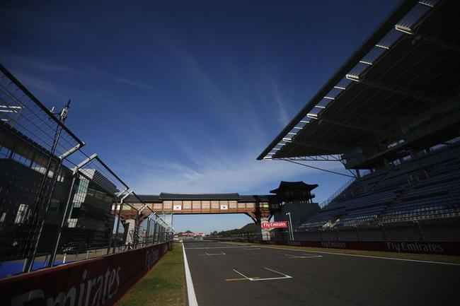 A portion of the Korea International Circuit is seen before the Korea F1 Grand Prix in Yeongam