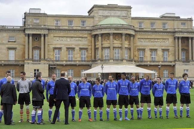 Football at Buckingham Palace