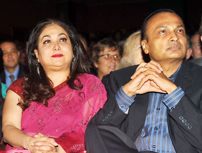 Anil and Tina Ambani