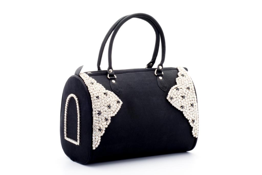 Black silver studded Bag