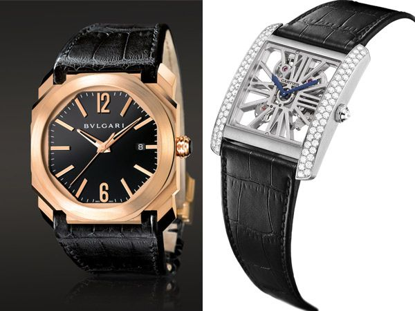 Bulgari Octo & Cartier Tank MC Skeleton Palladium