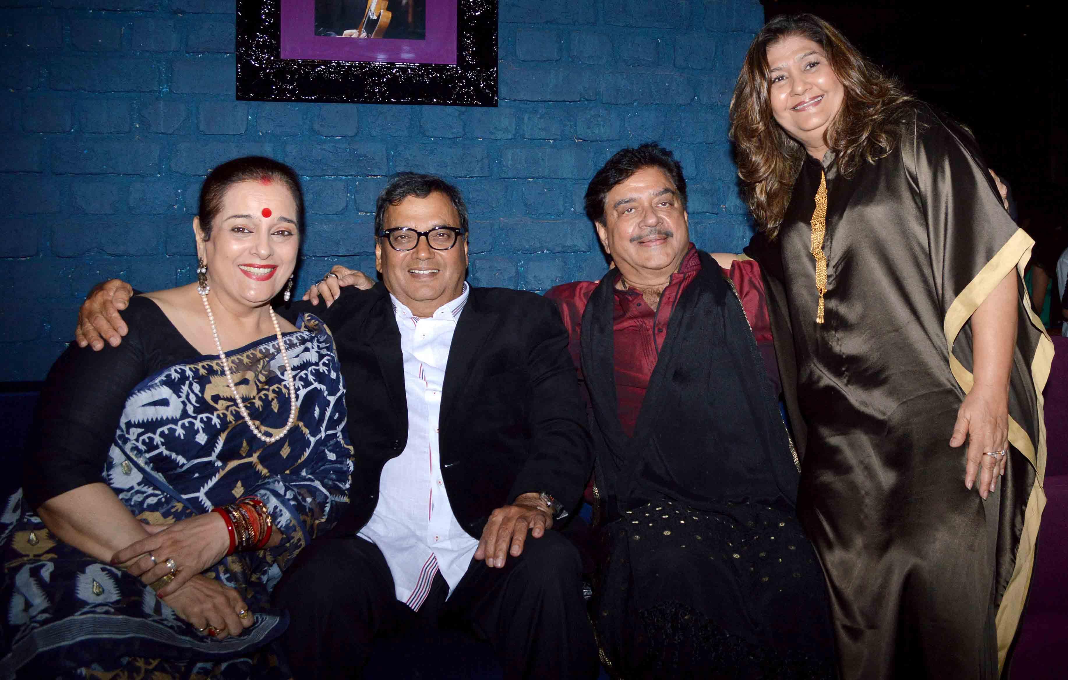 Subhash Ghai with Shtrughnan and Poonam Sinha