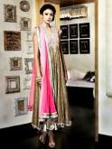 Golden sequined churidar kurti