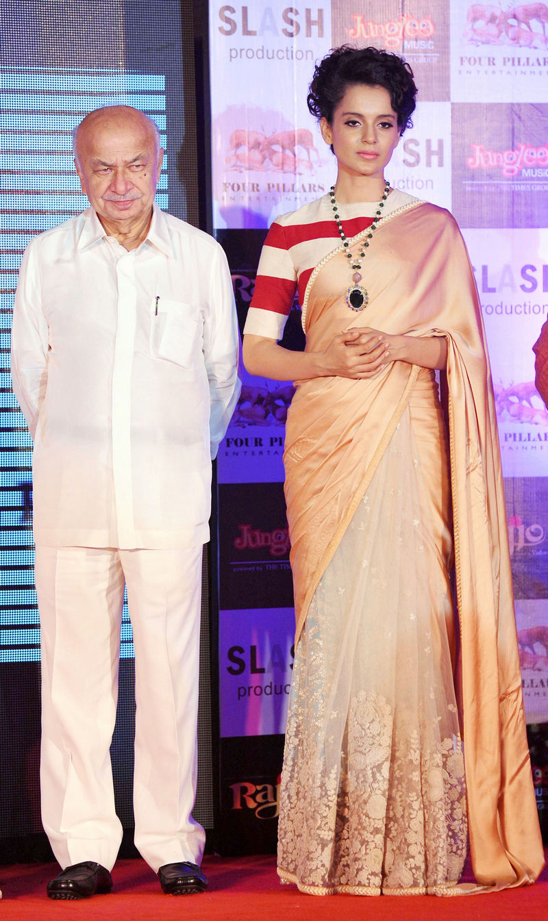 Kangana Ranaut and Sushil Kumar Shinde