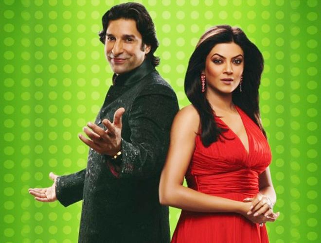 Sushmita Sen and Wasim Akram