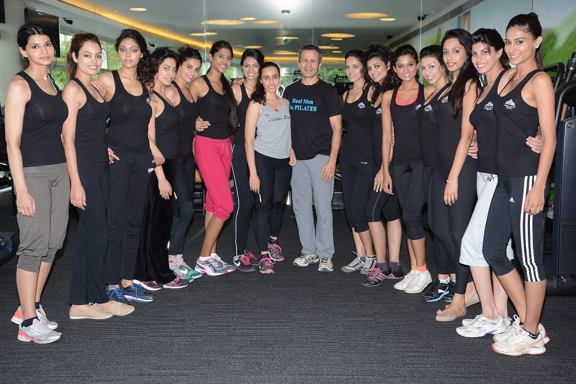 Miss Diva 2013 finalists with Namrata and Sumit Purohit from The Pilates and Altitude Training Studio