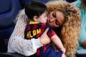 Shakira and Milan at Camp Nou