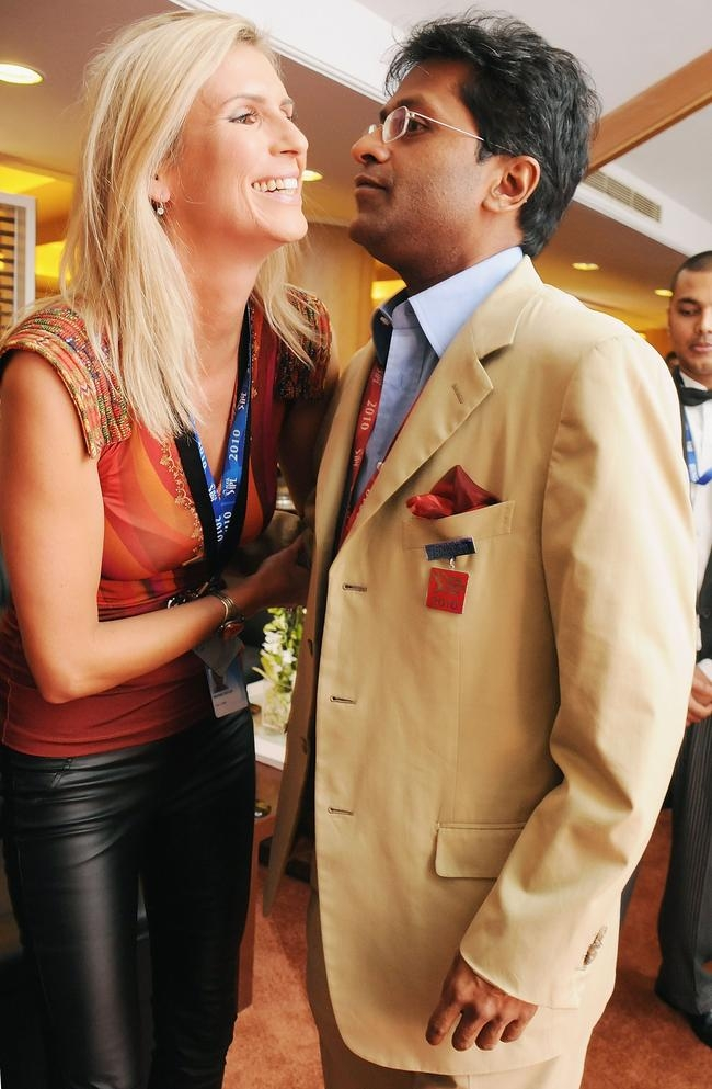 Michelle Mclean and Lalit Modi