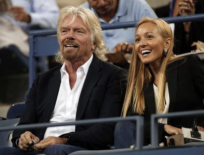 Richard Branson and Jelena Ristic