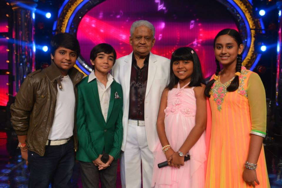 Pyarelal with the top 4 finalists