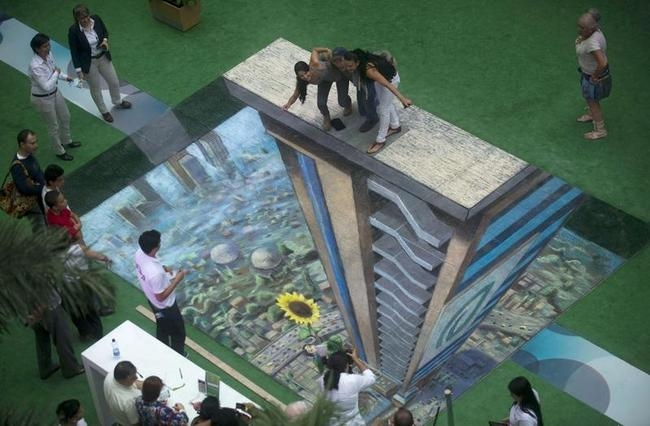 Stunning 3D Art Piece in Medellin