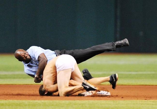 Streaker Stalls MLB Game