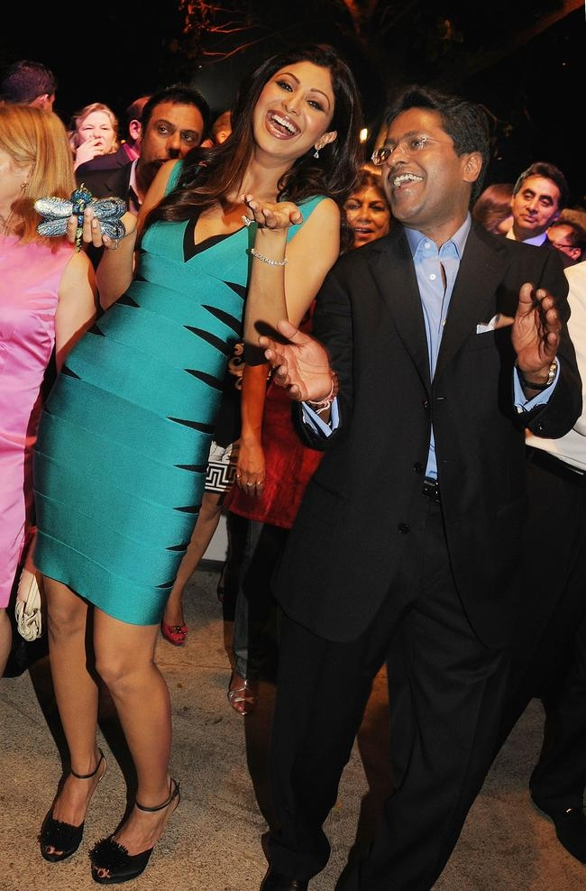Shilpa Shetty with Lalit Modi