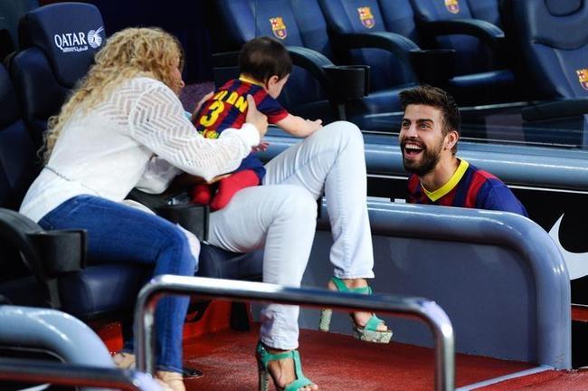 Shakira, Gerard Pique, Milan at Camp Nou