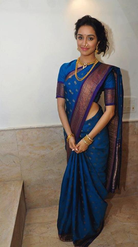 Shraddha Kapoor Sizzles In Maharashtrian Saree