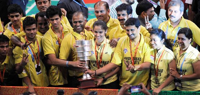 Hyderabad Hotshots Celebrate Win