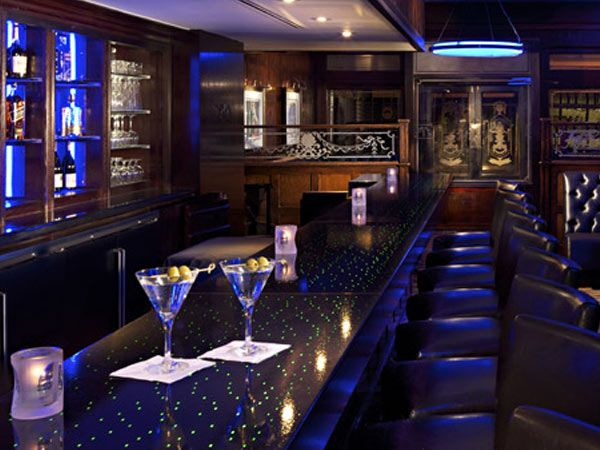 Martini on the Rock Another $10,000 pick, the Blue Bar at the Algonquin Hotel offers possibly one of the most expensive ways to propose to your lady love. Yes, this drink is sure to snap you out of your inebriated state, but it does come served on a silv