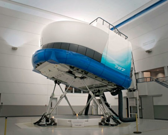 Exterior of 787 Simulator
