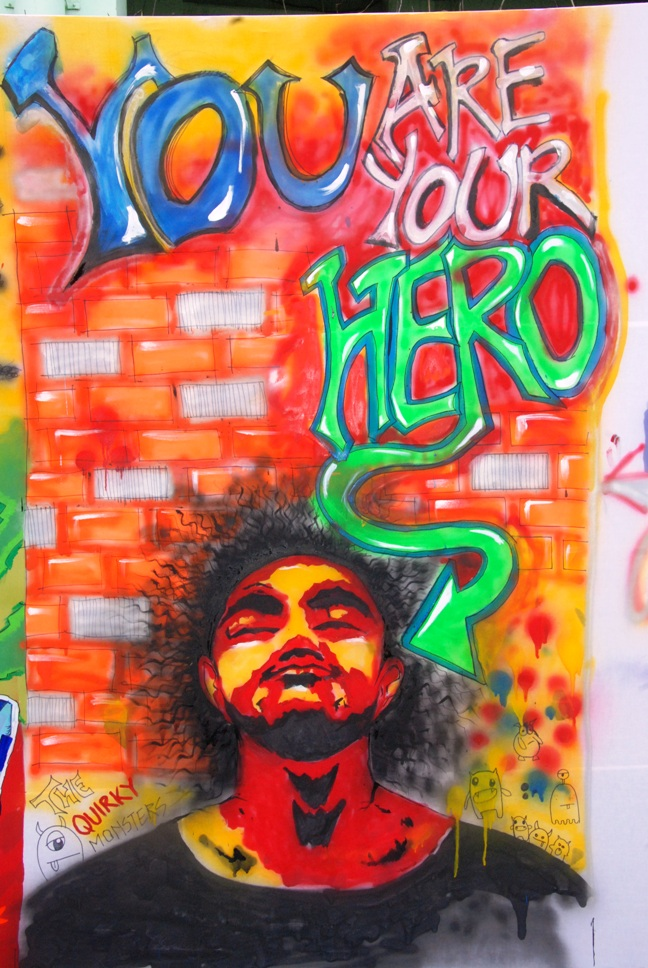 Graffiti at NBA Jam 2013