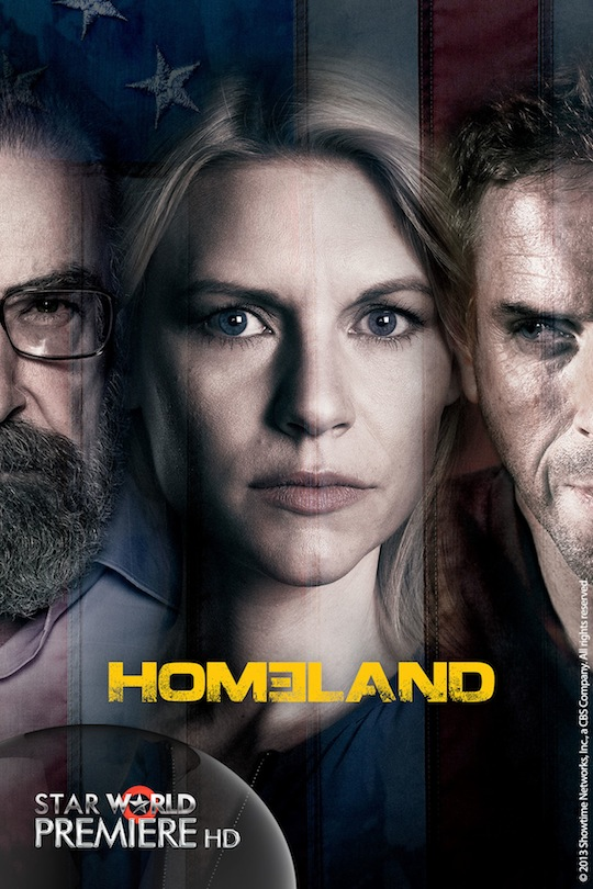 The new GEC Star World Premiere HD will telecast the latest season (S3) of award-winning show Homeland starring Claire Danes and Damien Lewis.