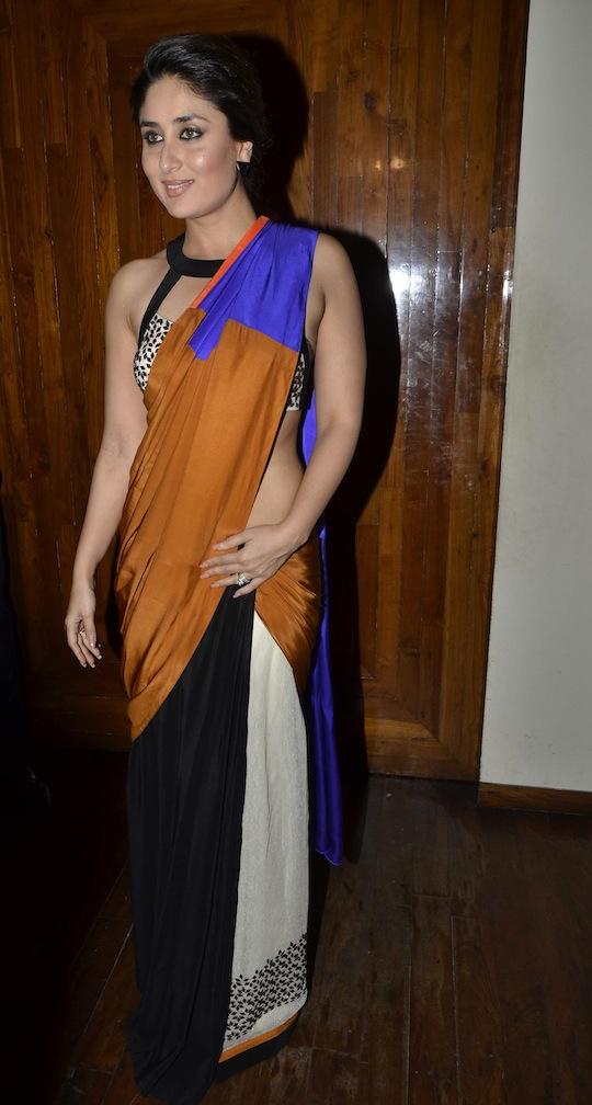Kareena Gives The Saree A Sexy Twist - Indiatimescom-8447