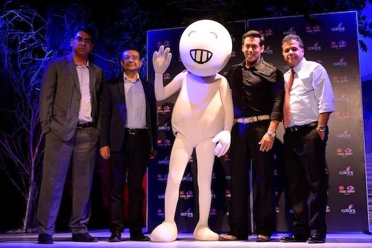 Deepak Dhar, MD, Endemol India, Vivek Mathur- CCO, Vodafone India, Vodafone Zoo Zoo, Salman Khan, Raj Nayak, CEO Colors