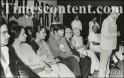 Shatrughan Sinha, Hema Malini, Reena Roy, Dev Anand, M.C. Chagla, Vijaya Lakshmi Pandit and Ramakrishna Bajaj at a public meeting