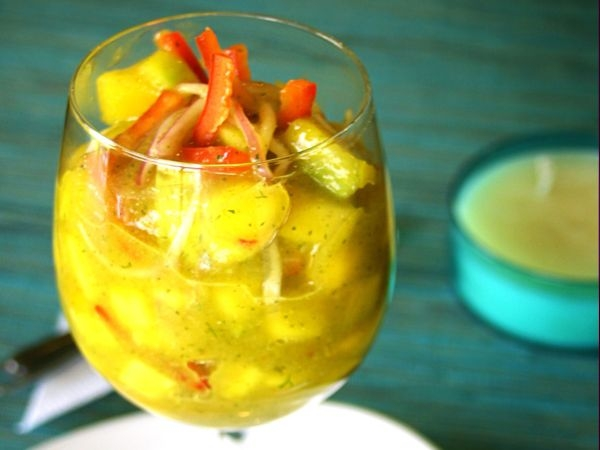 20 Healthy Summer Recipes and Summer Drinks Shrimp - Mango Ceviche