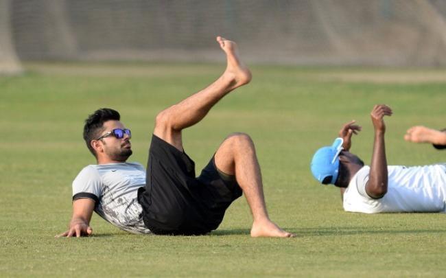 Virat Kohli and Varun Aaron