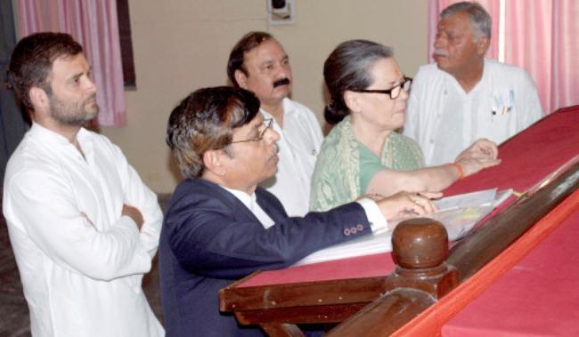 Sonia Gandhi Files Nomination from Rae Bareli: PICS