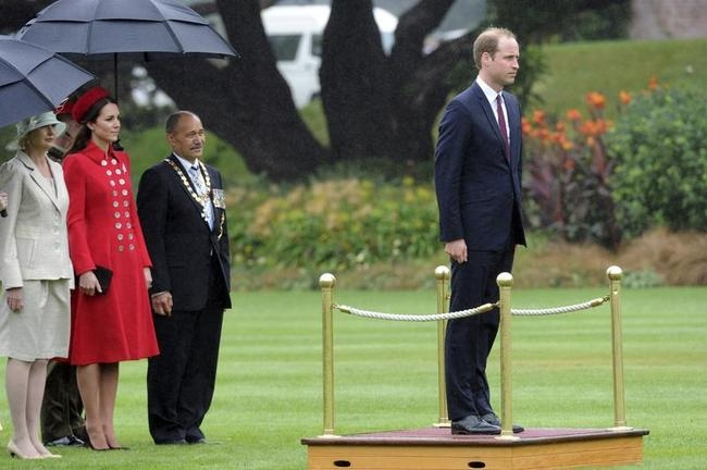 Prince William and Kate Middleton Arrive in New Zealand with Prince George: PICS