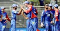 Delhi Daredevils Celebrate the wicket of Shahbaz Nadeem