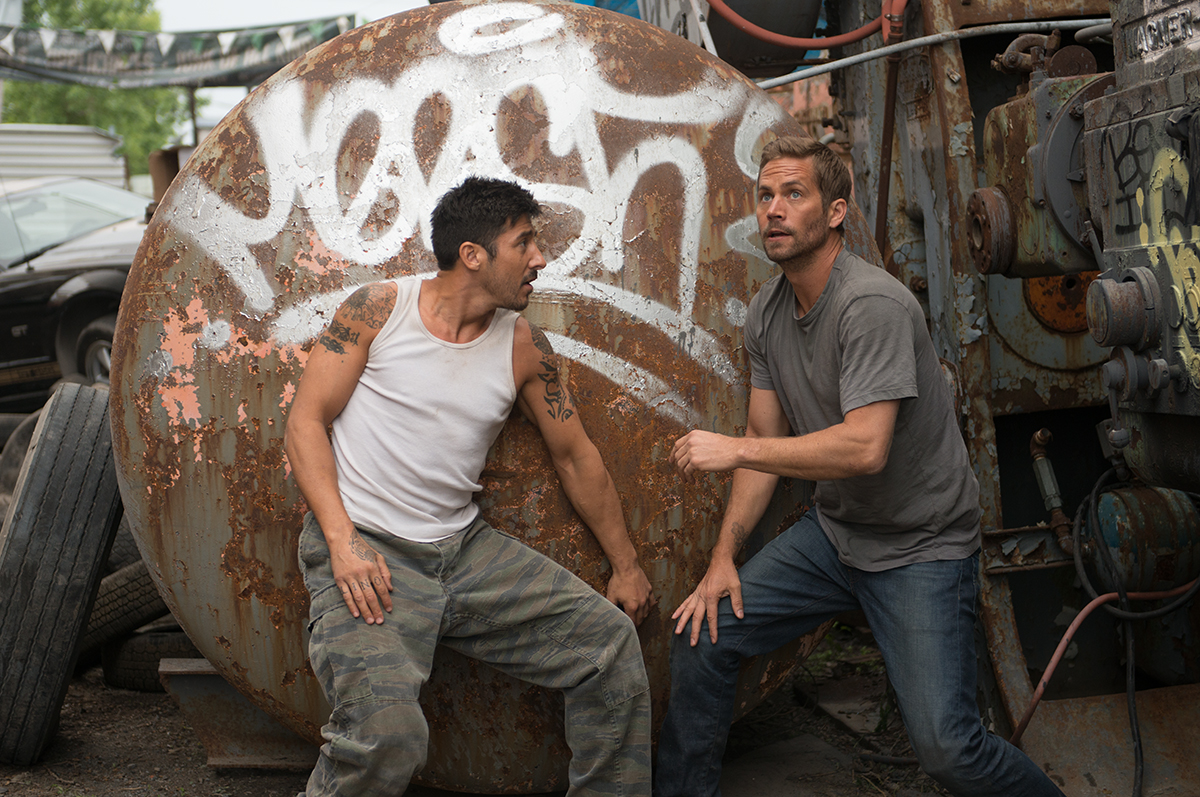 David Belle and Paul Walker in Brick Mansions