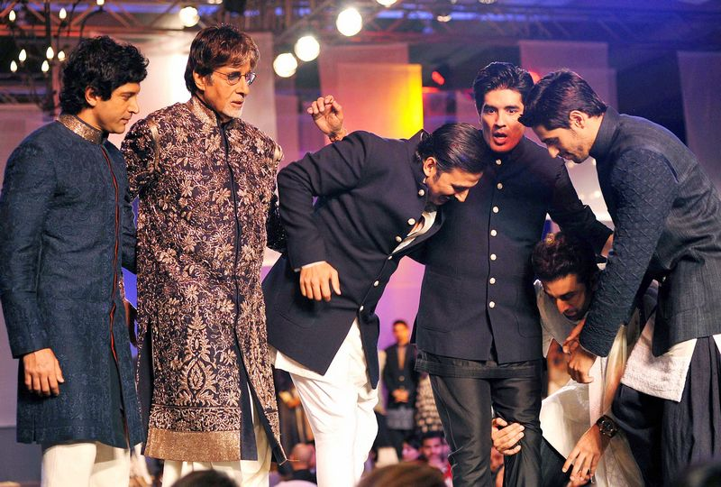 Farhan Akhtar, Amitabh Bachchan, Akshay Kumar, Ranbir Kapoor, Manish Malhotra, Sidharth Malhotra