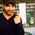 John Abraham votes in Lok Sabha Elections 2014