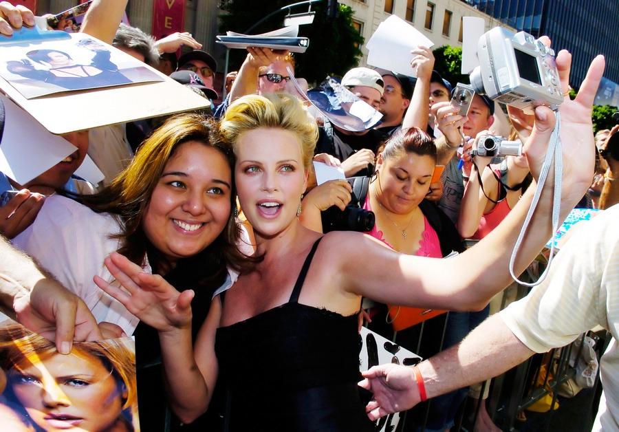Charlize Theron selfie