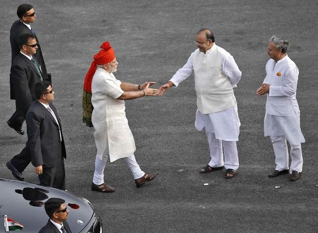 PM Modi prepares to shake hands with India