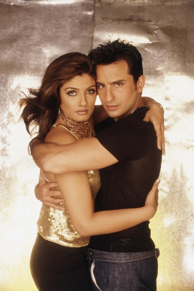 Saif Ali Khan and Raveena Tandon