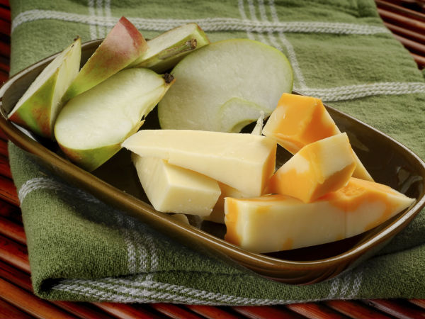 Apple and parmesan cheese