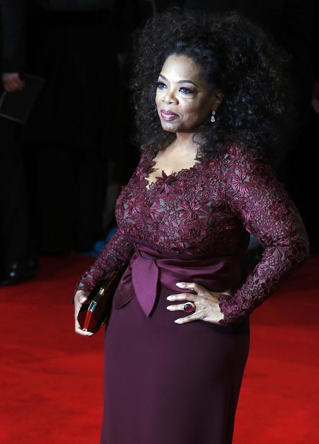 Oprah Winfrey arrives at the British Academy of Film and Arts awards ceremony at the Royal Opera House in London